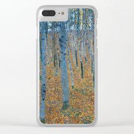 Beech Grove I by Gustav Klimt Clear iPhone Case