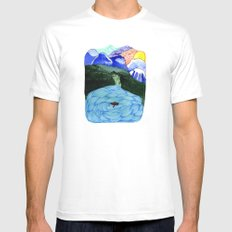 Landscapes / Nr. 1 Mens Fitted Tee White MEDIUM