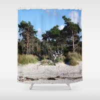 german Shower Curtains featuring German coast by anru