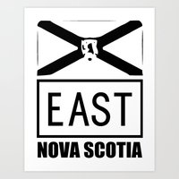 THE EAST Art Print