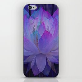 The Lotus in blue... iPhone Skin