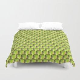 spring green cubes Duvet Cover