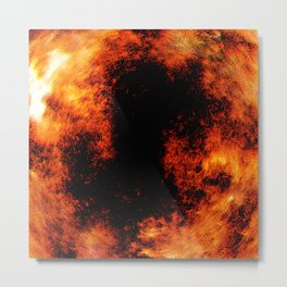 Dragon's Belly - Abstract fire style painting Metal Print
