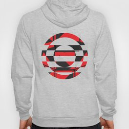 Red black Geometric pattern abstract Hoody