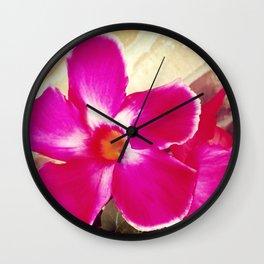 Tropical Pink Wall Clock
