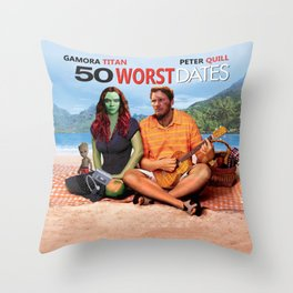 50 WORST Dates - Avenger End Game Parody Design (50 first dates) Throw Pillow