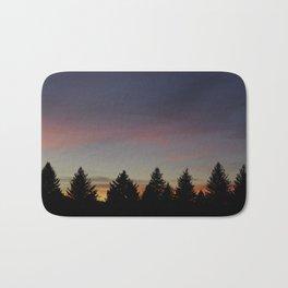 Sunset Silhouette Bath Mat
