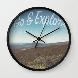 Explore Shenandoah Wall Clock