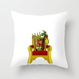 Bloody Mary King Funny Bloody Mary Gift Throw Pillow