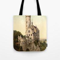 lichtenstein Tote Bags featuring Lichtenstein Castle by BravuraMedia