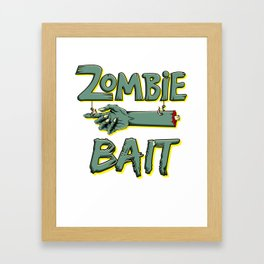 Zombie Bait Scary Halloween Chopped Pointing Limb Dark Light Framed Art Print
