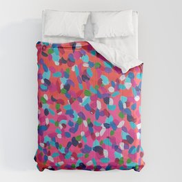 Pink Dreams Abstract Painting Comforters