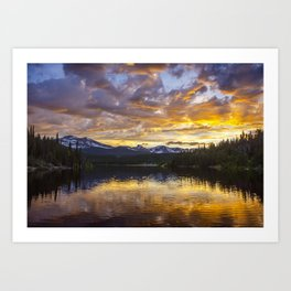 Mile High Sunset Art Print
