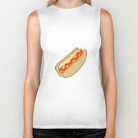 hot dog Biker Tanks featuring Hot Dog by Andrew Lynne