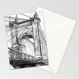 Roebling Bridge, Rolling Clouds Stationery Cards