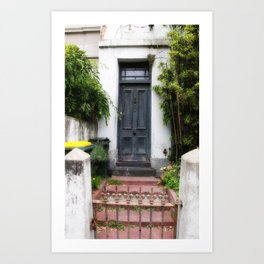 Blue Door. Art Print