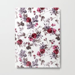 winter floral Metal Print