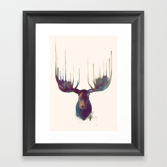 Moose Framed Art Print