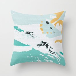 Pond In Palm Throw Pillow