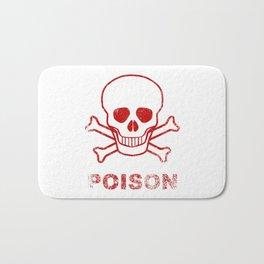 Poison Red Ink Stamp Bath Mat