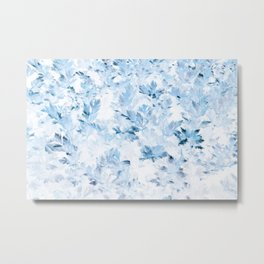 Blue Parsley Foliage Metal Print