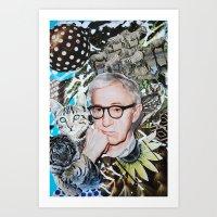 woody allen Art Prints featuring Woody Allen by John Turck