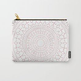 Tribal Mandala Sketch - Rose Gold Carry-All Pouch