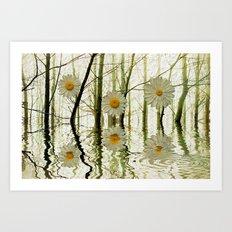 DAISY TREES Art Print