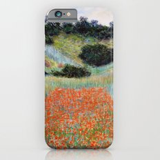 Poppy Field in a Hollow near Giverny by Claude Monet iPhone 6 Slim Case