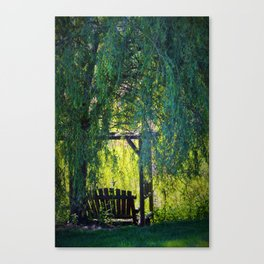 a spot for sitting Canvas Print