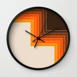 Cornered Golden Wall Clock