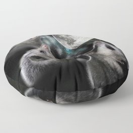 3 opossum moon Floor Pillow