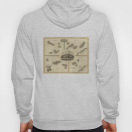 Vintage Azores, Cape Verde, Canary Islands Map (1814) Hoody