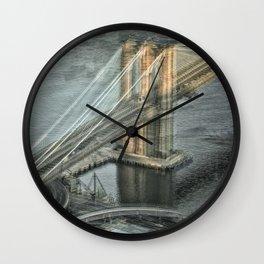 Brooklyn Bridge Manhattan Side Wall Clock