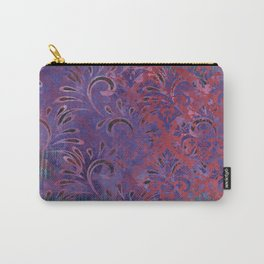 Abstract Pattern:  Watercolor Deep Tones Fancy Prints Pink and Purple Carry-All Pouch