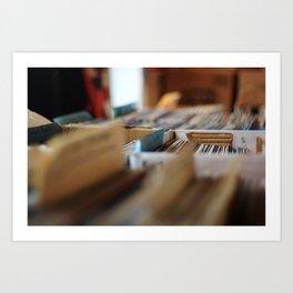 RECORD SHOP Art Print