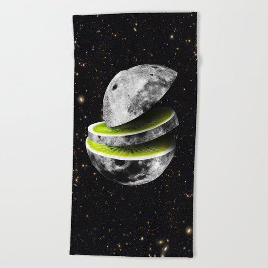 Kiwi Moon Beach Towel