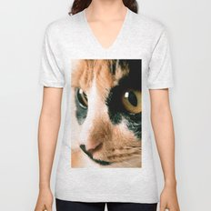 Thinking Cat Unisex V-Neck