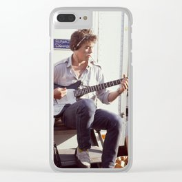 Robert Downey Jr.  on set of Tuff  Turf 1985 Clear iPhone Case