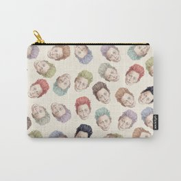 Tilda Heads on Cream | Hair Pattern Carry-All Pouch