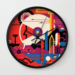 NASA Retro Space Travel Poster #9 Mars Wall Clock