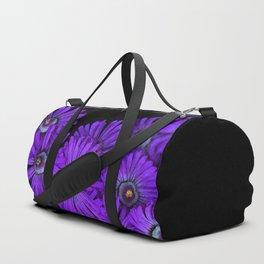 Purple succulent flowers watercolor effect Duffle Bag