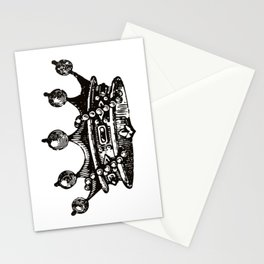 Royal Crown   Vintage Crown   Black and White   Stationery Cards