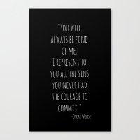 oscar wilde Canvas Prints featuring Oscar Wilde by Saturos