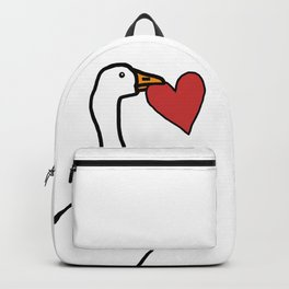 White Goose Steals Heart Backpack