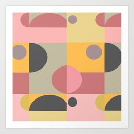 Blocks Shapes  Art Print