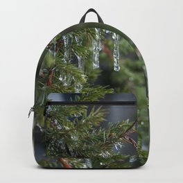 Leafy Icicle Bokeh Backpack