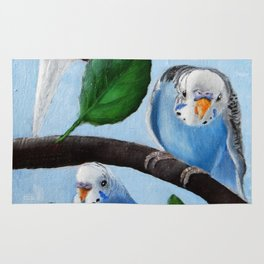 Spinach Tree Parakeet Painting Rug