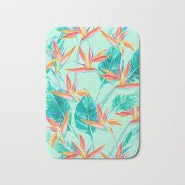 Birds Of Paradise Mint Bath Mat