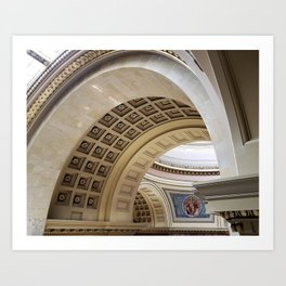 Wisconsin Capitol Building Arches And Angles Art Print